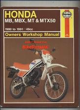Honda MT5 MB5 MT50 MB50 (1980-1991) Haynes Shop Manual Book MB MT MBX MTX 50 S
