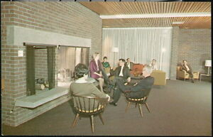 ANSTED WV Hawks Nest Lodge Vtg Lobby View Old New River Canyon Rt 60 Postcard