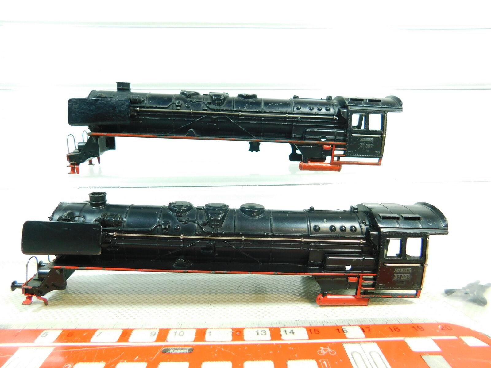 Bt297-1   2x Märklin h0 cast housing for F 800 Steam Locomotive 01 097, 2. Choice  magasin d'usine
