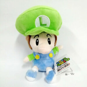 Baby Luigi Super Mario Bros Plush Toy Character Stuffed Animal