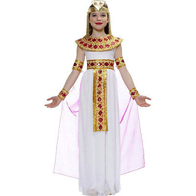PINK CHILD GIRLS CLEOPATRA EGYPTIAN QUEEN OF THE NILE PRINCESS KIDS COSTUME
