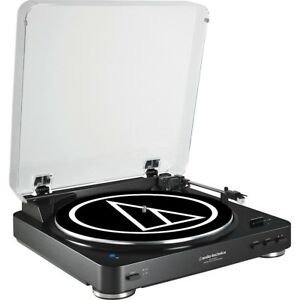 Audio-Technica-AT-LP60BK-Fully-Automatic-Belt-Drive-Stereo-Record-Player-Black