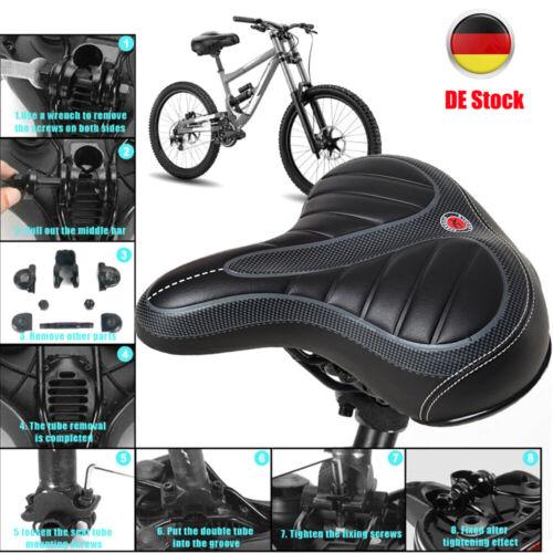 Profi Fahrradsattel Fahrradsitz Fahrrad breiter Komfort Sattel Feder City Gel