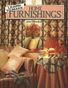 Very-Good-Learn-to-Make-Home-Furnishings-Newdick-Jane-Paperback