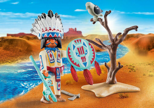 Playmobil Special Plus #70062 Native American Chief New Factory Sealed