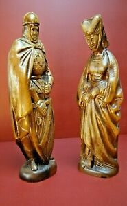 Lot-statue-Marie-de-Bourgogne-Maximilien-Autriche-bois-chateau-Duc-Bruges-Catles