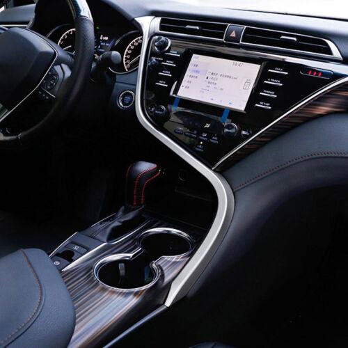 Interior ABS Matte Center Console S Line Cover Trim For Toyota Camry 2018 XV70