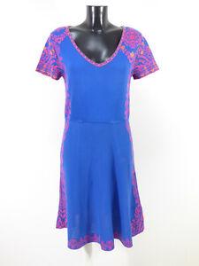 IVKO Damen Strick Kleid Gr 38 DE / Blau mit Muster ...