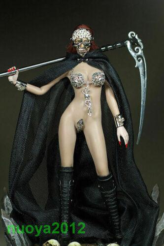 """1//6 Custom Female Black Cloak Grim Reaper Clothes F 12/"""" Phicen Figure Body Model"""