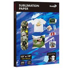 Koala 100 Sheet 13x19 Dye Sublimation Inkjet Heat Transfer Paper T Shirts Mugs