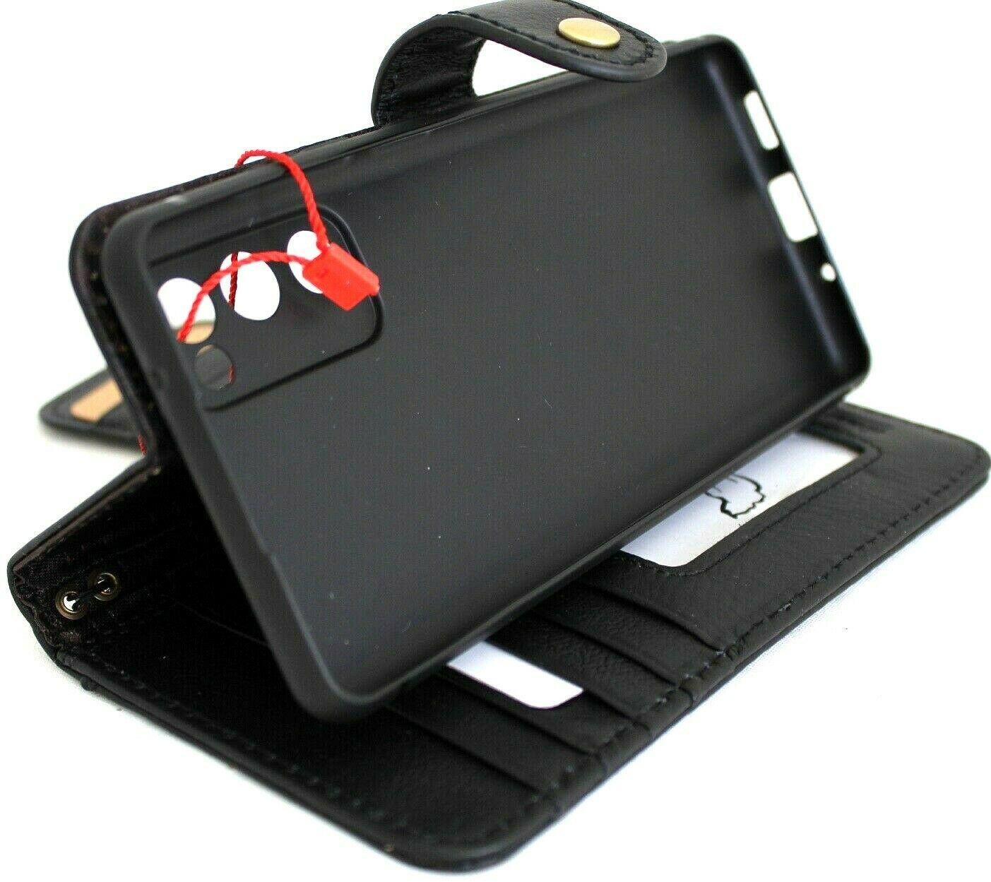 Image 51 - Genuine Soft Leather Case fo Galaxy S20 FE Wallet Book Card Slots Closure Luxury