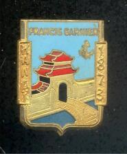 Canonnière FRANCIS GARNIER - Hanoi 1873 - insigne INDOCHINE Courtois Paris