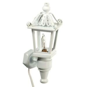 Melody Jane Dolls House Lampe de table verte lampe à huile Shade miniature électrique