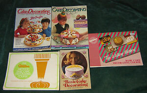 History Of Cake Decorating Books : WILTON CAKE DECORATING BOOKS - SOFT COVERS - 1970 S & 80 S ...