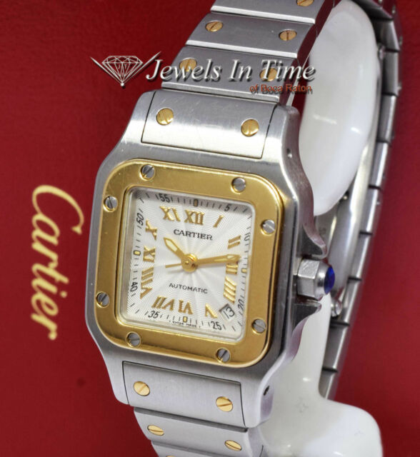 Watch Galbee 2423 Steel Santos 18k Yellow Gold And Automatic Cartier Ladies hQdCBtsrx