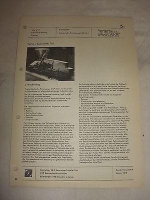 Ddr & Ostalgie Business & Industrie EntrüCkung Original Ddr Reklame Prospekt Datenblatt Hyd Betonpumpe Hbp 7,5/1 Veb Halle 1973