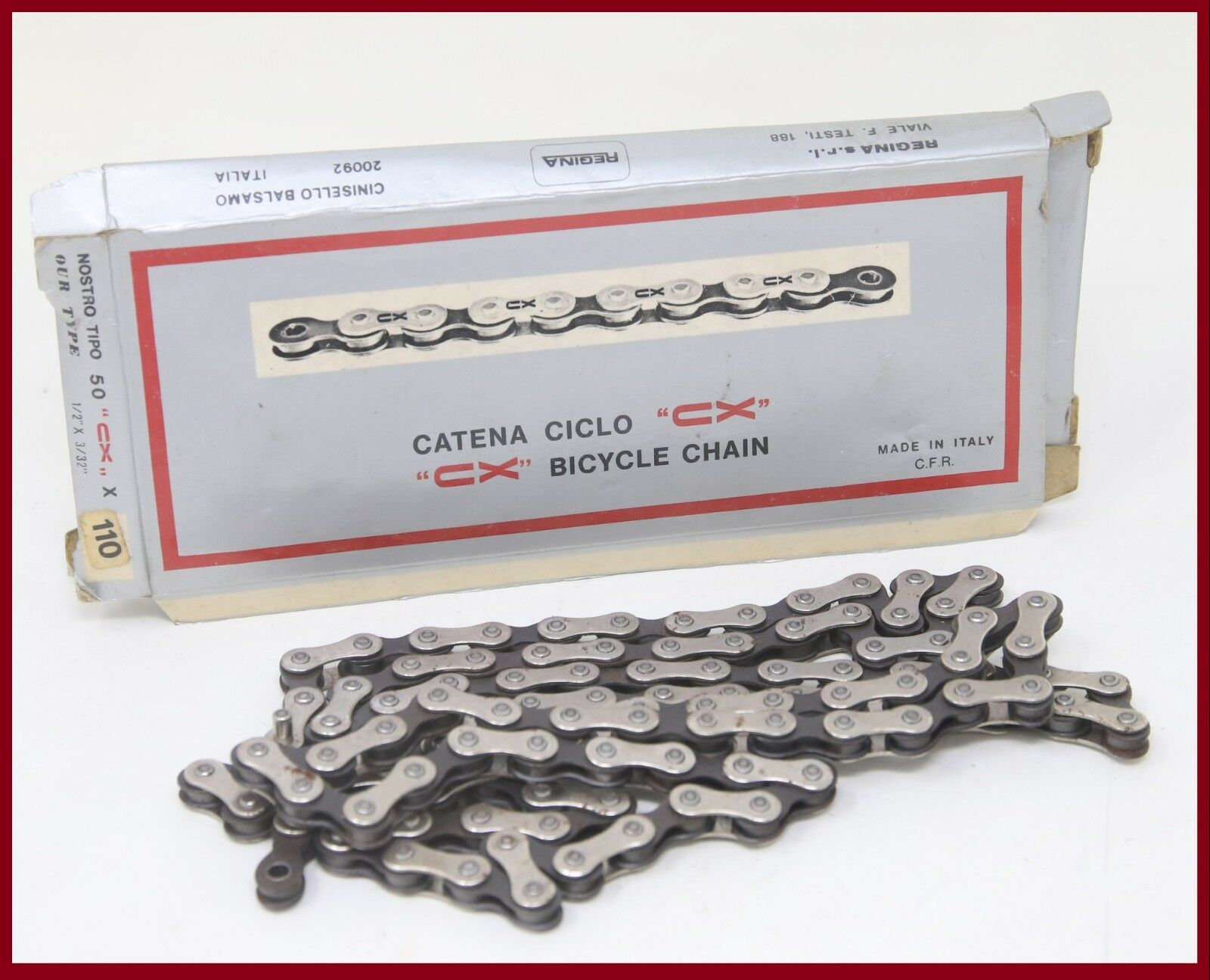 NOS REGINA EXTRA CX 1 2 X3 32  CHAIN 70s VINTAGE 5 6 7 SPEED CAMPAGNOLO RECORD