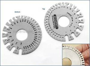 Swg standard mm metric wire gauge circular round thickness ruler image is loading swg standard mm metric wire gauge circular round greentooth Image collections
