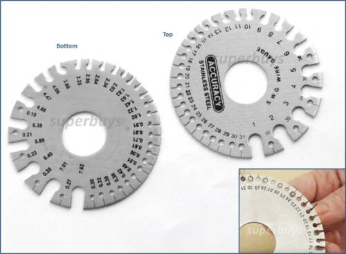 SWG Standard mm Metric Wire Gauge Imperial Measure Thick Ruler Gauge Diameter