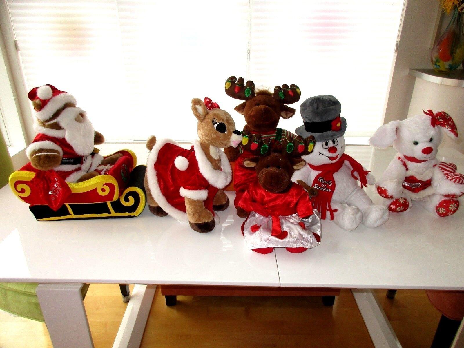 Build a Bear-Christmas-Santa's Sleigh-Reindeer-Mr & Mrs Moose-Frosty-Holiday Lot