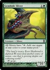 GEMHIDE SLIVER Time Spiral MTG Green Creature — Sliver Com