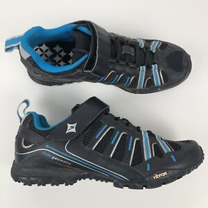Specialized-Womens-Tahoe-Sport-Cycling-Shoes-Size-9-EUR-40-Black-With-Cleats