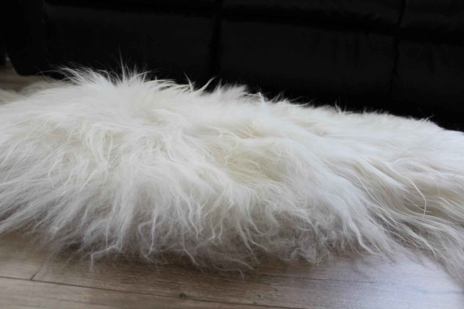Genuine Icelandic Icelandic Icelandic Sheepskin Rug Throw – shade of Weiß e3d83c