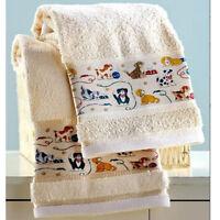 Hand Towels For Bathroom Decor Ideas Boys Kids Guest Playful Dogs Pattern Design
