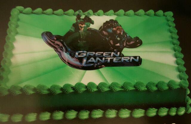 Miraculous Green Lantern Cake Kit For Sale Online Ebay Funny Birthday Cards Online Amentibdeldamsfinfo