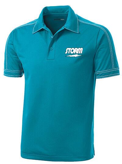 Storm Men's Code Performance Polo Bowling Shirt Dri-Fit Tropic bluee