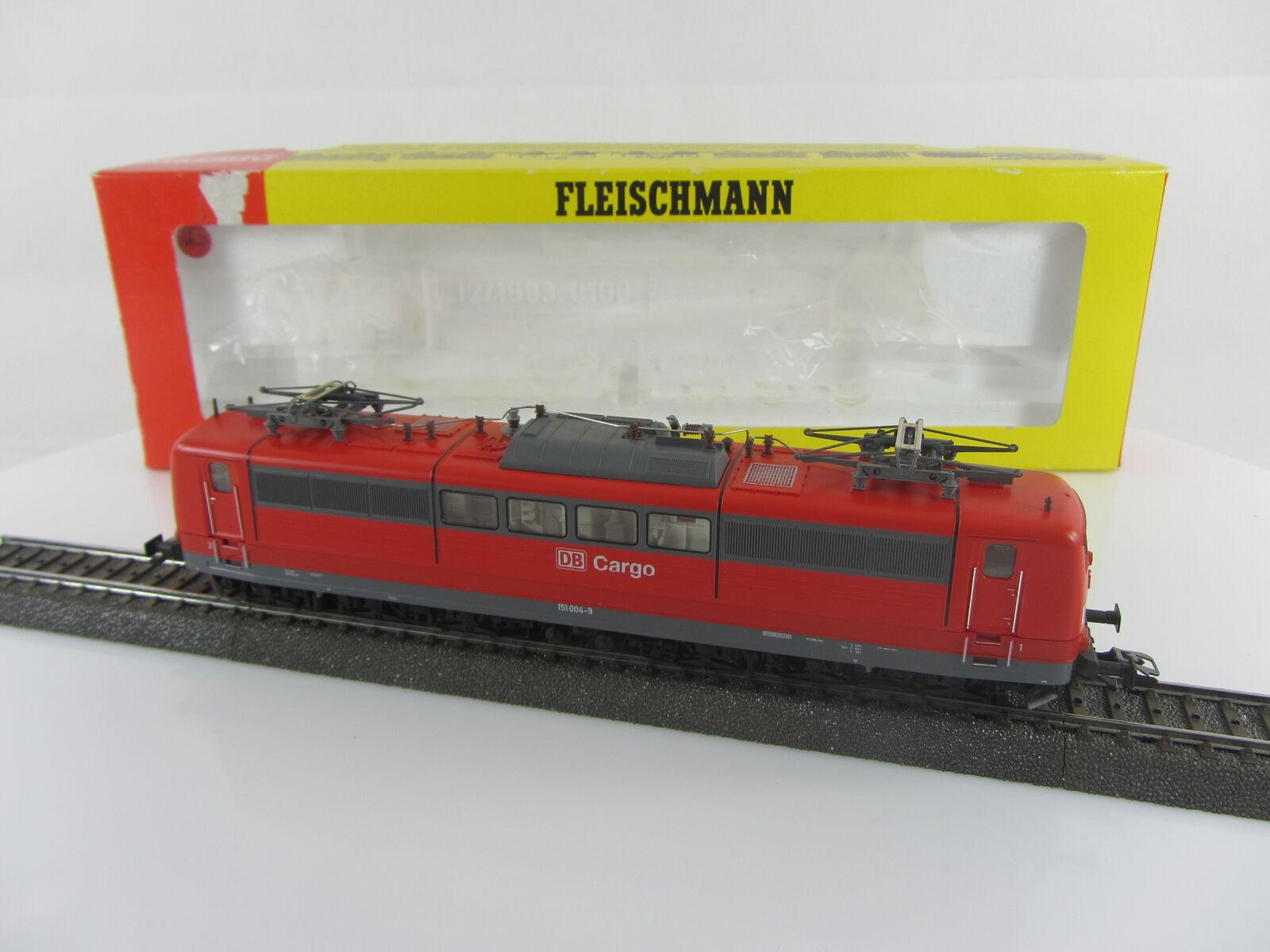 Fleischmann 4383 Elektrolokomotive Br. 151004-9 der DB Cargo in rot, AC-Digital  | Professionelles Design