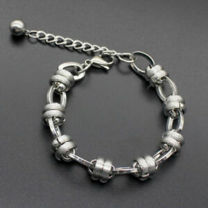 Men-039-s-Punk-Silver-Stainless-Steel-Figaro-Curb-Chain-Bracelet-Wristband-Bangle