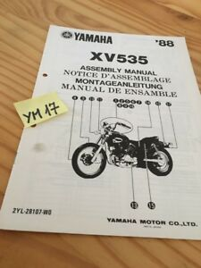 Yamaha-XV535-1988-XV-535-Virago-instruction-preparation-setup-manuel-montage