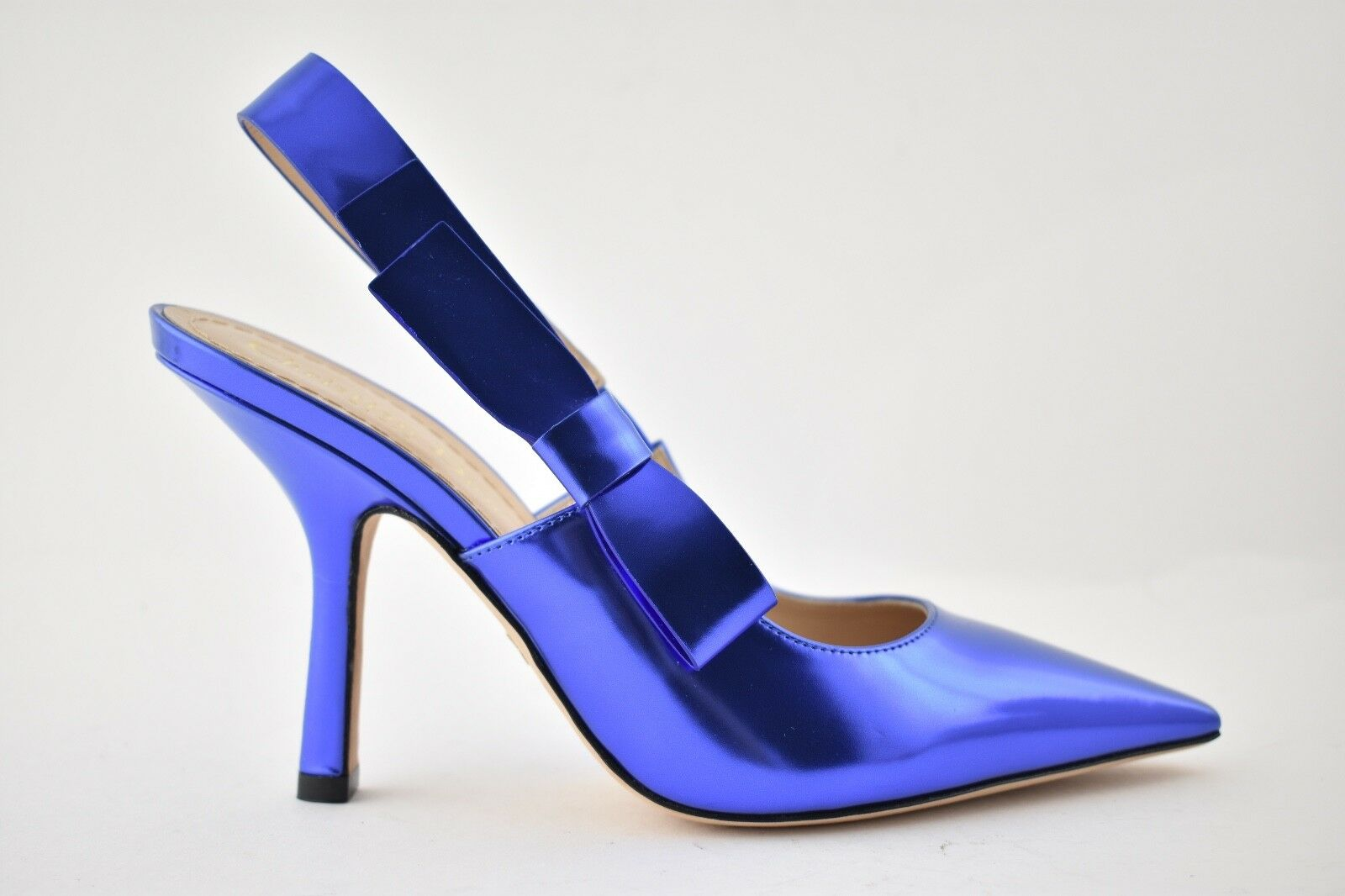 NIB Dior J'adior Sweet D bluee Metallic Leather Slingback Sandal Heel Pump 36.5