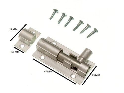 Porte Boulon Barillet Loquet De Verrouillage 50 mm 2 in aluminium avec Vis pack de 3 environ 5.08 cm