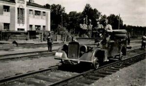 WW-2-Russland-Feldzug-43-Testfahrt2-Spezial-Schienenfahrzeug-Sikejevo-Brjansk