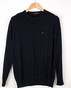 TOMMY-HILFIGER-Men-Casual-Stretch-Knit-Sweater-Jumper-Size-M-ATZ703