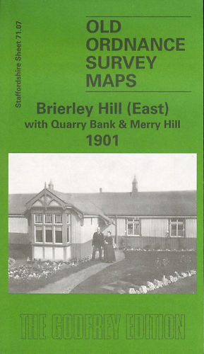 OLD ORDNANCE SURVEY MAP BRIERLEY HILL EAST QUARRY BANK & MERRY HILL 1901
