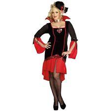 Lady VAMPS LIKE US Vampire Costume Goth Dress + Hat Adult XL Plus 1X 2X 16 18