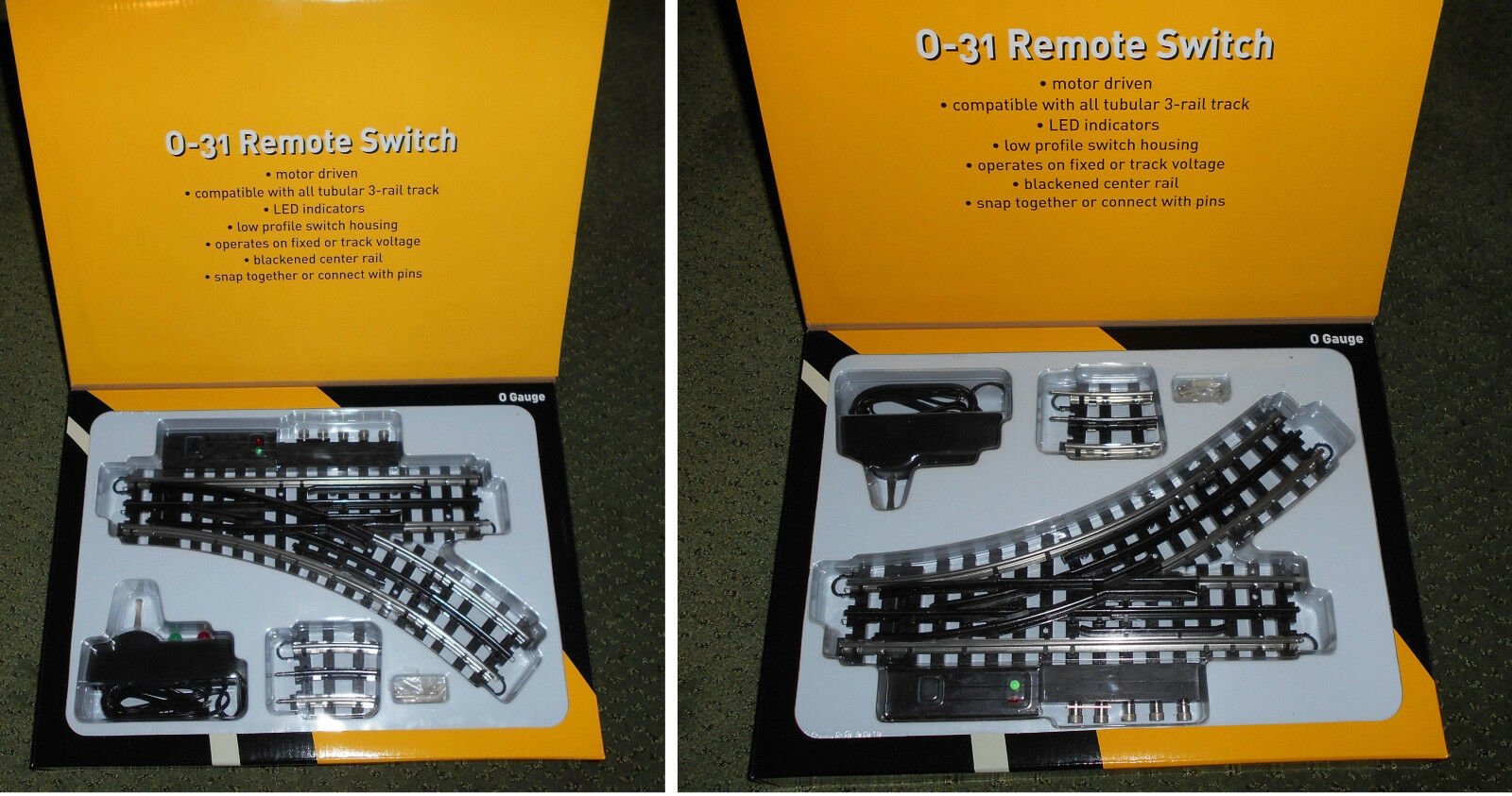 TWO O-Line Reproduction K-Line LH & RH O GAUGE O31  SUPERSNAP SWITCHES LED PAIR