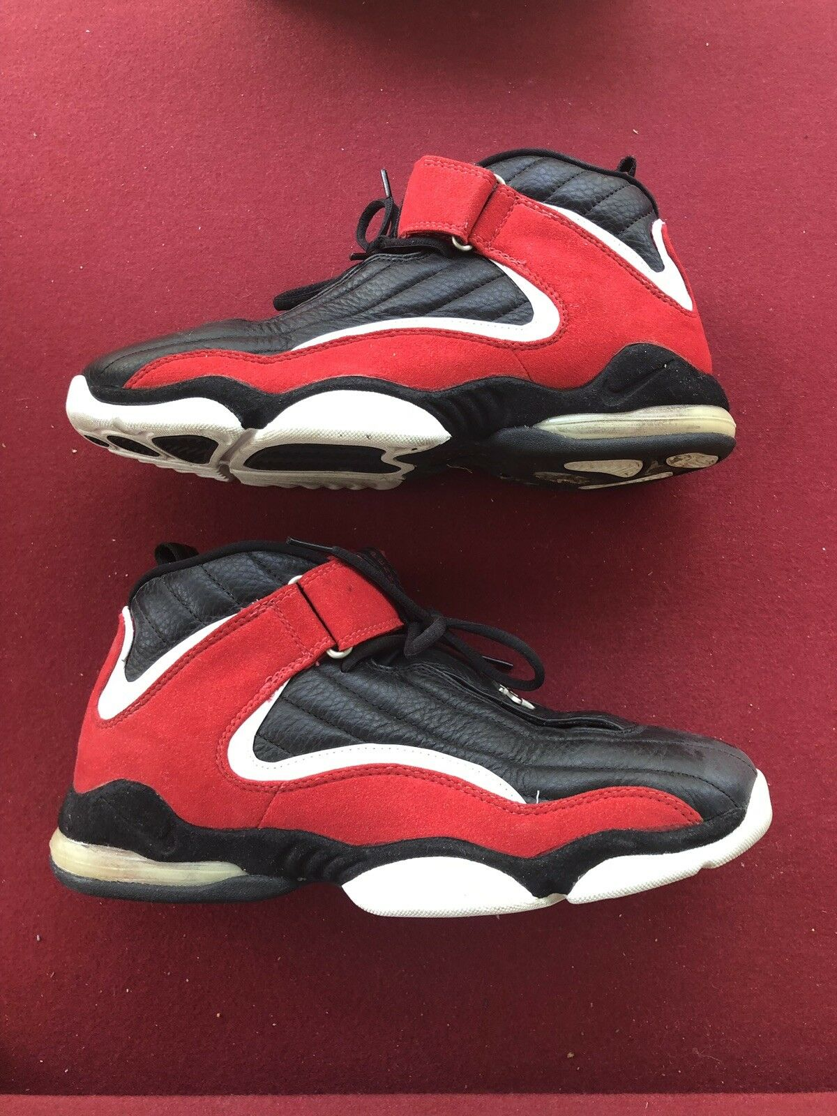 cheap for discount e6bd9 18453 Nike Air Max Penny IV 4 White Black True Red Red Red 630347-061 Size