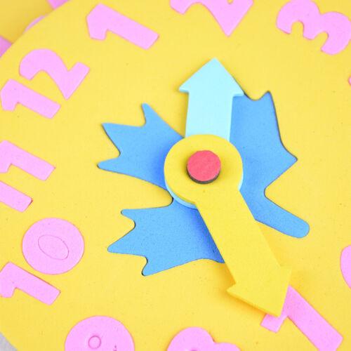EVA Schaum Zahl Uhr Zeit Puzzle Kinder Lernen Spielzeug Kostenloser VersandZJP