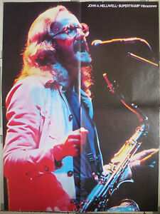 SUPERTRAMP-LOS-BRAVOS-DOBLE-POSTER-SPANISH-MAGAZINE