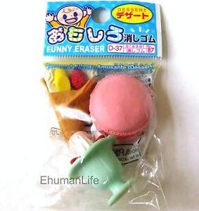 3pc Iwako Japanese Erasers Banana Orange Melon Strawberry Grape Pipeapple