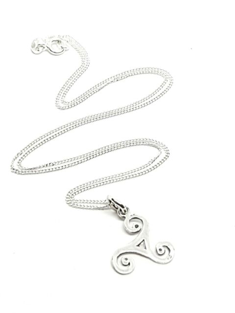 Triskelion BDSM Triskele Secret Symbol Pendant Necklace 925 Silver Jewellery