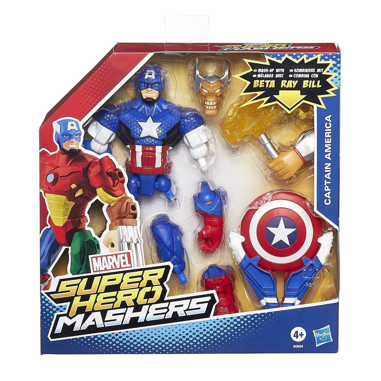 CAPTAIN AMERICA ( 6  ) VHTF ( 2015 ) MARVEL SUPER HERO MASHERS ACTION FIGURE