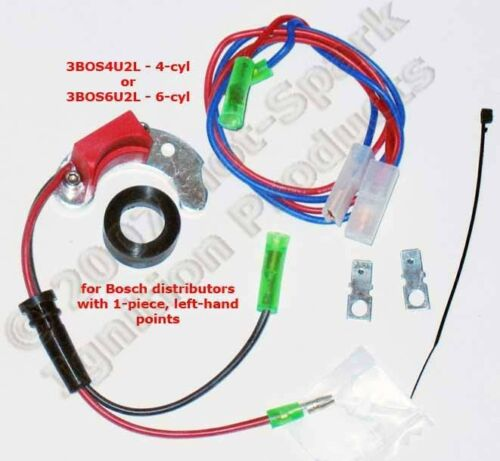 Left-Pivot Points Electronic Ignition Kit for BMW 4-cyl with 1-Piece 3BOS4U2L