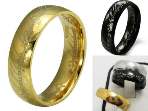 LOT de 20 acier inoxydable Edelstahl  BAGUE Lord of the ring anneau Bijoux