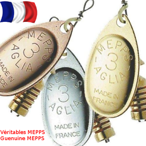 MEPPS Aglia Spinner//Richiamo Taglie 00-5 Argento Oro Rame Colours Trota Perch