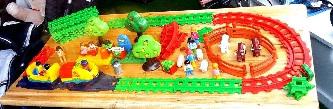 Playmobil Eisenbahn elektrisch mit viel Zubehör
